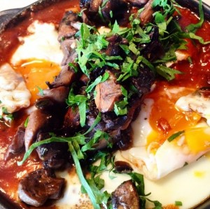 Oscar Cooper's baked eggs